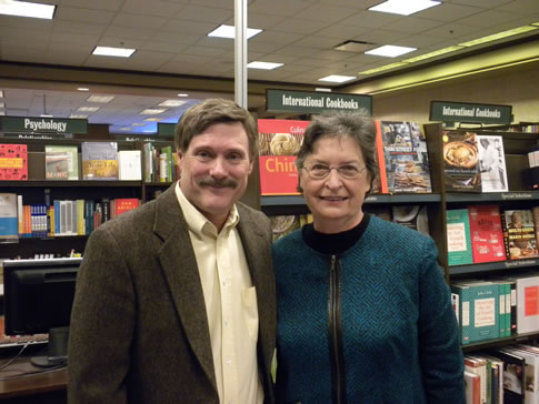 At the Galleria Barnes & Noble with Bone Shadows contest winner Rosanne George