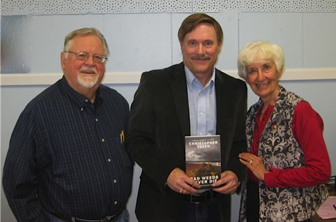 With Paul and Rosie Schluter, owners of the Paso Fino horse ranch fictionalized in Bad Weeds Never Die, at the Cannon Falls Citizen Law Enforcement Partnership