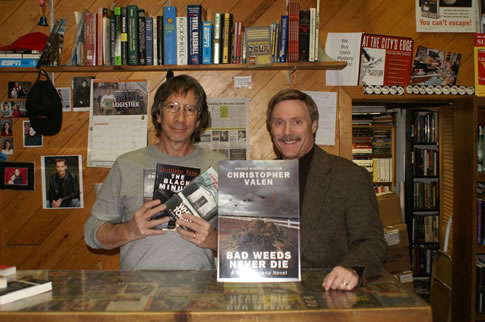With Richard Katz at the Mystery One Bookstore in Milwaukee